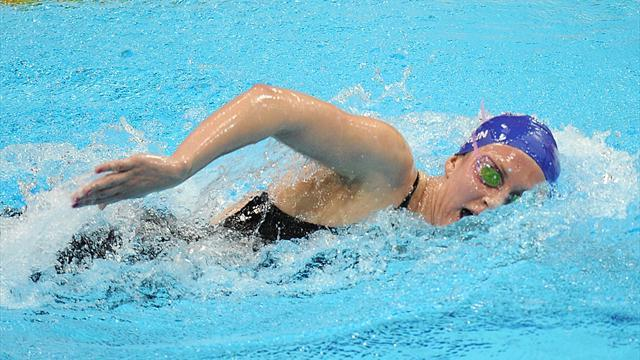 Swimming - Carlin leaves plenty more for first final at worlds