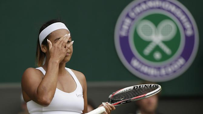 Wimbledon women - Brave Watson falls at second hurdle