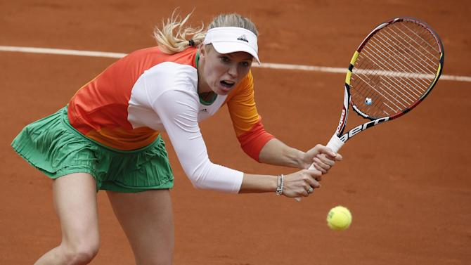 French Open - Wozniacki loses in Paris after return from engagement heartache