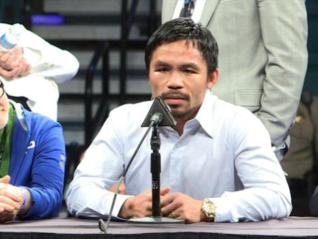 Manny Pacquiao says a shoulder injury he picked up weeks before his fight with Floyd Mayweather contributed to his points loss to the American.