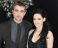 Robert Pattinson and Kristen Stewart attend the UK Premiere of 'The Twilight Saga: Breaking Dawn Part 1' at Westfield Stratford City in London on November 16, 2011 -- Getty Premium