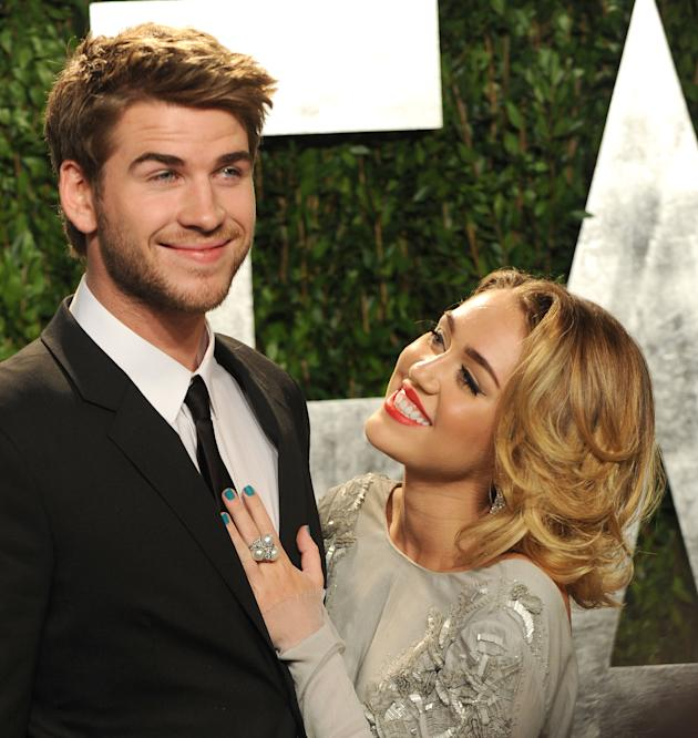 Liam Hemsworth and Miley Cyrus (Getty Images)