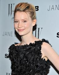 "Mia Wasikowska steps out at the New York premiere of ""Jane Eyre"" at the Tribeca Grand Hotel Screening Room in New York City on March 9, 2011 -- Getty Images"