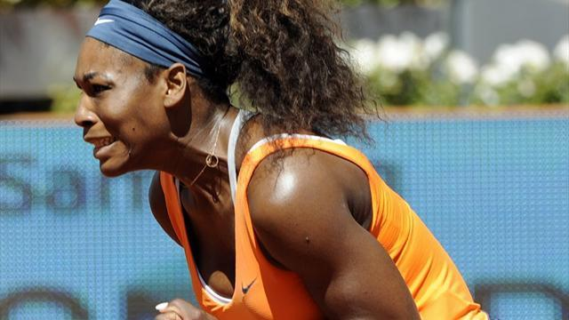 Tennis - Serena subdues Sharapova to defend Madrid title