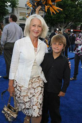 Helen Mirren and Cameron Mirren at the Los Angeles premiere of DreamWorks/Paramount Pictures' Transformers