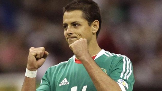 Mexico's striker Javier Hernandez after his team's victory against Costa Rica during 2014 World Cup qualifying (Reuters)