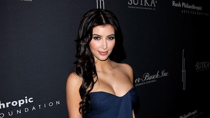 Kim Kardashian attends the Russell Simmons Rush Philanthropic Arts Foundation Art For Life at Fontainebleau Hilton on March 14, 2009 in Miami.