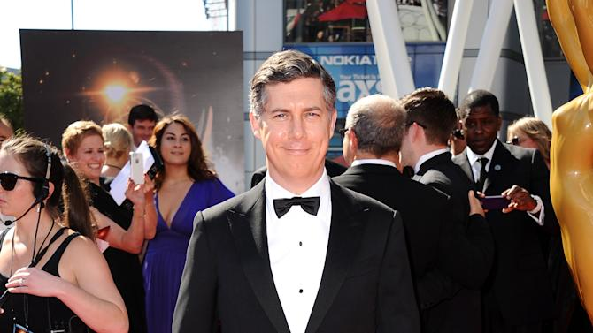 Chris Parnell arrives at the 2013 Primetime Creative Arts Emmy Awards, on Sunday, September 15, 2013 at Nokia Theatre L.A. Live, in Los Angeles, Calif. (Photo by Scott Kirkland/Invision for Academy of Television Arts & Sciences/AP Images)