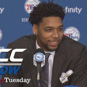 Duke's Jahlil Okafor Introduced By The Philadelphia 76ers | ACC Now