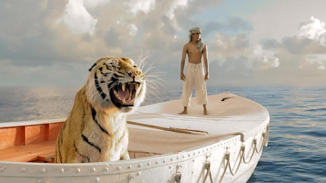"This publicity film image released by 20th Century Fox shows Suraj Sharma in a scene from ""Life of Pi,"" directed by Ang Lee. Best-picture prospects for Oscar Nominations on Thursday, Jan. 10, 2013, include, ""Lincoln,"" directed by Steven Spielberg; ""Zero Dark Thirty,"" directed by Kathryn Bigelow; ""Les Miserables,"" directed by Tom Hooper; ""Argo,"" directed by Ben Affleck; ""Django Unchained,"" directed by Quentin Tarantino; and ""Life of Pi,"" directed by Ang Lee. (AP Photo/20th Century Fox, Jake Netter, File)"