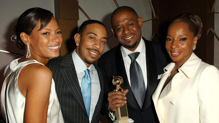 "Keisha Whitaker, Chris ""Ludacris"" Bridges, Forest Whitaker and Mary J. Blige and guest (left) at the In Style and Warner Bros. 2007 Golden Globe After Party."