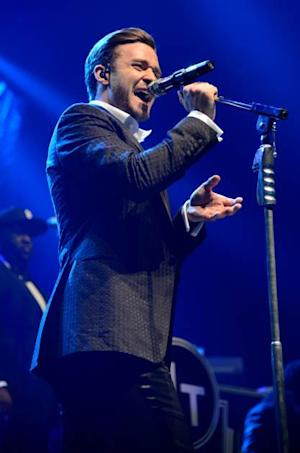 Justin Timberlake performs during MasterCard Priceless Premieres Presents Justin Timberlake at Roseland Ballroom on May 5, 2013 in New York City -- Getty Premium