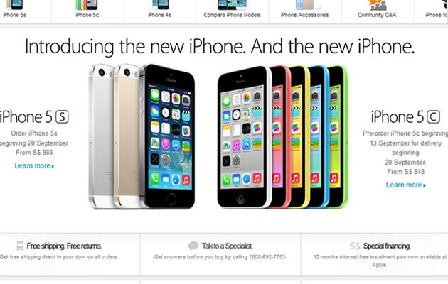 Yahoo Newsroom - Pricing for new iPhones. (Online screengrab)