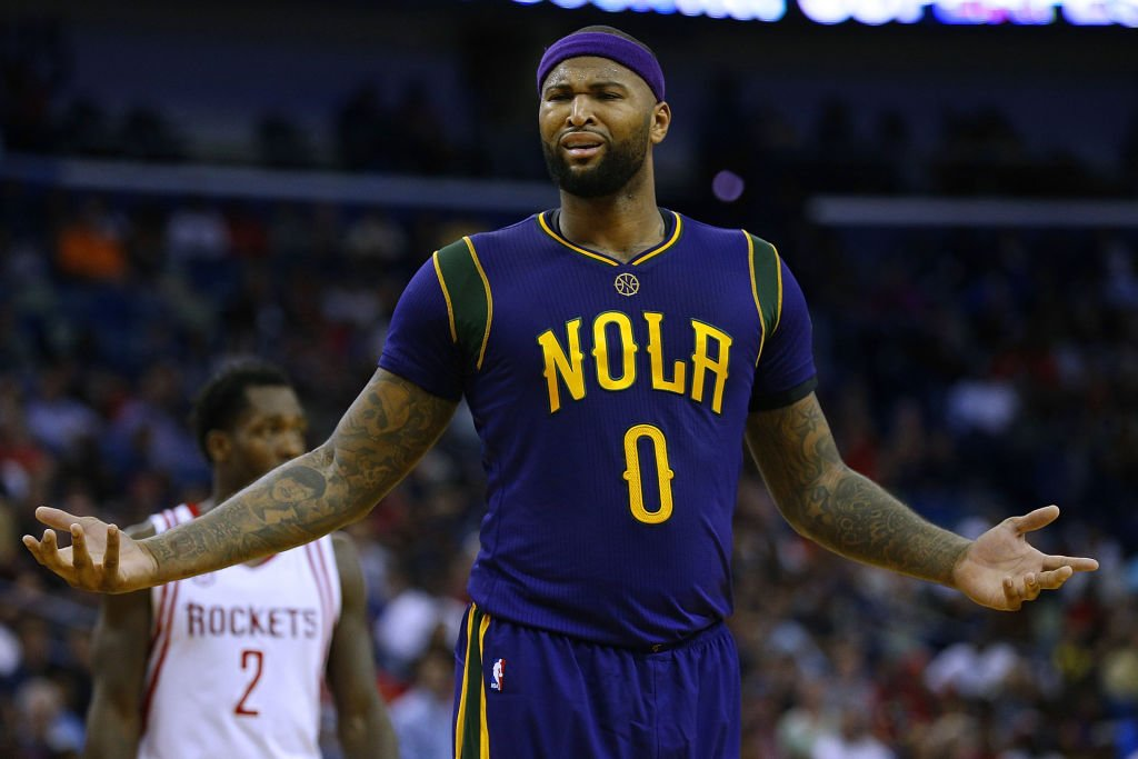 DeMarcus Cousins does not agree with Vlade Divac's call. (Getty Images)