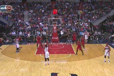 Watch Bradley Beal make an unreal three-pointer as time winds down