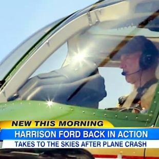 Harrison Ford Takes Flight for First Time Since Frightening Airplane Crash (Video)