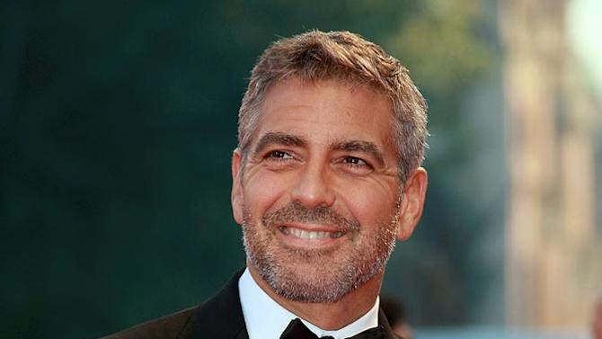 George Clooney attends the Michael Clayton Premiere in Venice during the 64th Venice Film Festival.