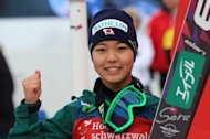 Japan's Sara Takanashi, pictured during the Women's Ski Jumping World Cup, in Hinterzarten, southern Germany, on January 13, 2013. Takanashi is targeting a strong performance at February's world championships to help her bid to win an Olympic gold in Sochi next year