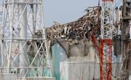 The No. 3 reactor building, pictured in May, at the stricken Fukushima nuclear power plant. Former prime minister Yukio Hatoyama joined an anti-nuclear march on Friday to the prime minister's official residence