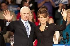 Ed Harris as John McCain and Julianne Moore as Sarah Palin in HBO's 'Game Change' -- Phillip V. Caruso/HBO