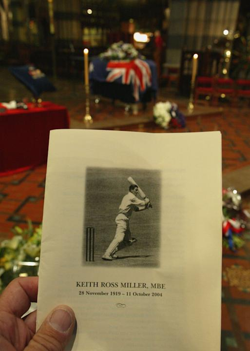 State Funeral For Cricket Great Keith Miller