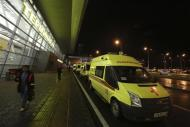 Ambulances are seen outside the main building of Kazan airport November 17, 2013. REUTERS/Yegor Aleev