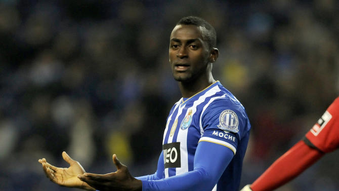 FC Porto's Jackson Martinez, from Colombia, reacts after missing a shot against Nacional in a Portuguese League soccer match at the Dragao stadium in Porto, Portugal, Saturday, Nov. 23, 2013. Jackson Martinez scored once in the match that ended in a 1-1 draw