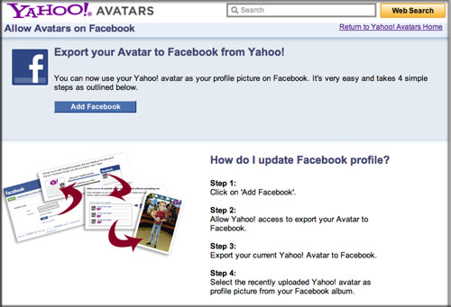 Yahoo avatars for Facebook