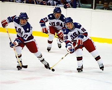 Michael Mantenuto , Billy Schneider and Chris Koch in Disney's Miracle