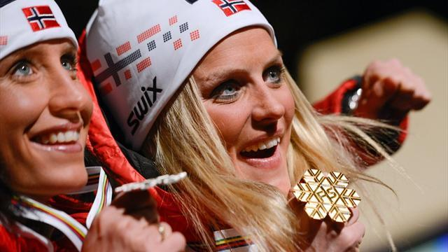 Cross-Country Skiing - Johaug defeats Bjoergen to win 10km