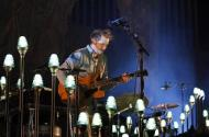 Band founder Justin Vernon performs with Bon Iver at the 2012 Coachella Valley Music and Arts Festival in Indio, California
