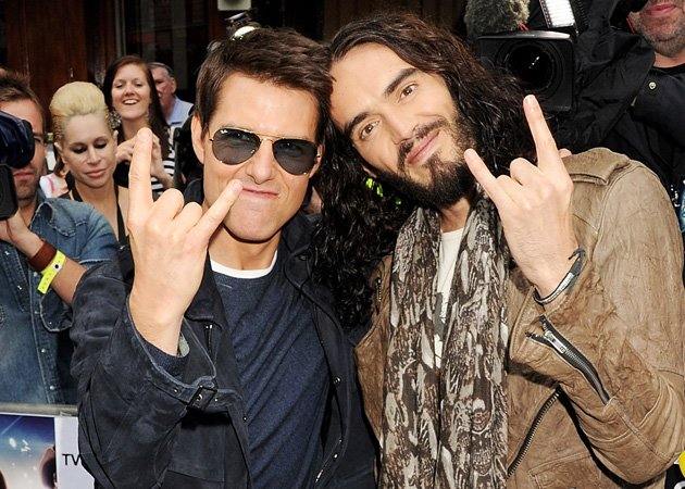 Tom Cruise, Russell Brand, Rock of Ages, London premiere