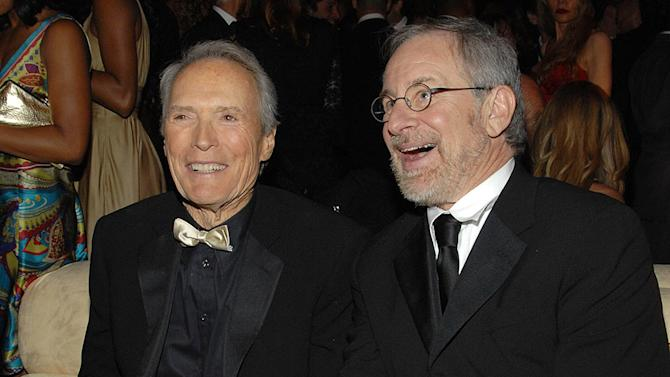 Clint Eastwood and Steven Spielberg at the In Style and Warner Bros. 2007 Golden Globe After Party.