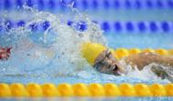 Australia's Jacqueline Freney competes during the Women's 100 metres Freestyle Final S7 category during the London 2012 Paralympic Games at the Aquatics Centre in the Olympic Park. Freney won the race to win the gold medal