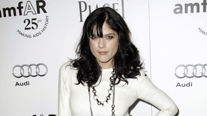 """FILE - In this Oct. 27, 2011 file photo, actress Selma Blair arrives at amfAR's Inspiration Gala in Los Angeles. In a brief statement Tuesday, June 18, 2013,  series producer Lionsgate said that Blair won't be returning to """"Anger Management,"""" the FX sitcom starring Charlie Sheen. The company said it wished her """"the very best"""" but had no further comment. (AP Photo/Matt Sayles, File)"""