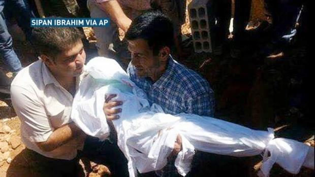 RAW: Funeral for drowned family in Syria