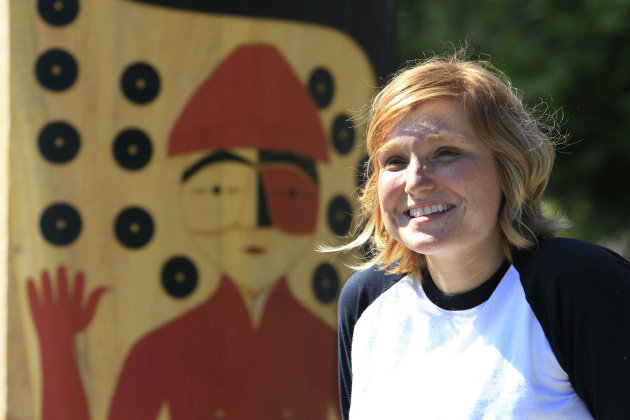 Heather Purser, activista pro matrimonio gay en la tribu Suquamish, en el esyado de Washington. (AP)
