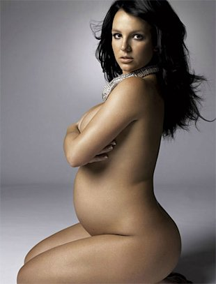 spears2 11 Pregnant Celebrity Moms Who Bared It All...Or Almost All