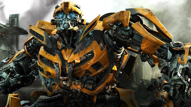 """This undated publicity photos provided by courtesy of Paramount Pictures shows Bumblebee in a scene from the film, """"Transformers: Dark of the Moon."""" (AP Photo/Courtesy Paramount Pictures)"""