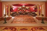 The interior of Majlis located in the Royal Suite at the Burj Al Arab hotel