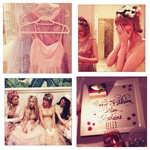 Taylor Swift, Dianna Agron Play Dress Up for Shirley MacLaine's Birthday