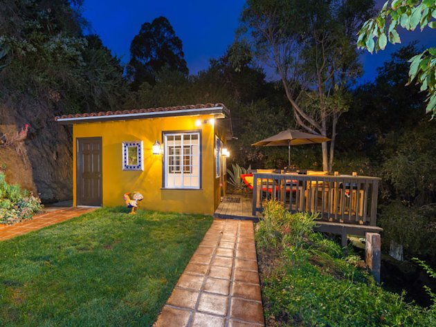 This Hollywood Hills property consists of two tiny houses: one 612 square feet, one just 190 square feet. Click the photo to see details and many more pictures.