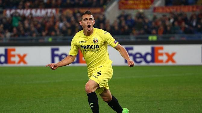 Villarreal's Santos Borre celebrates scoring their first goal