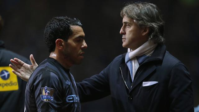 Premier League - Mancini plays down Tevez punishment