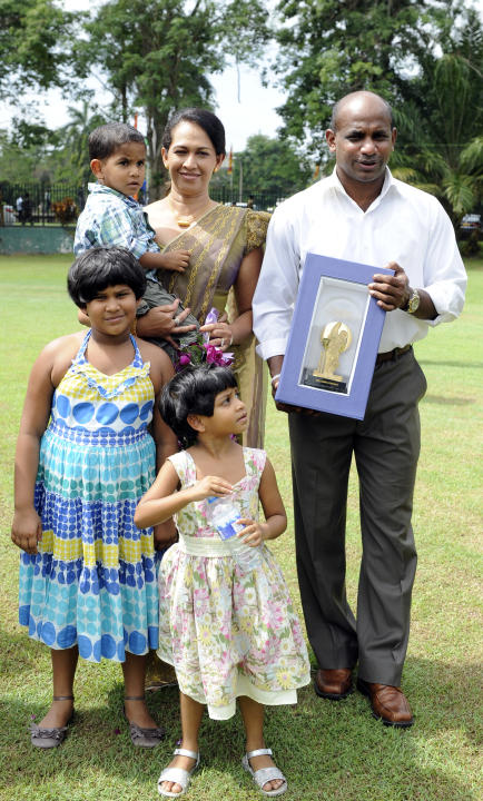 Sri Lankan cricketer Sanath Jayasuriya (