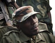 Colonel Sultani Makenga, head of the rebel M23 group, is pictured in Bunagana, a town near the Ugandan border, in July 2012. The United States ordered sanctions Tuesday on Makenga.