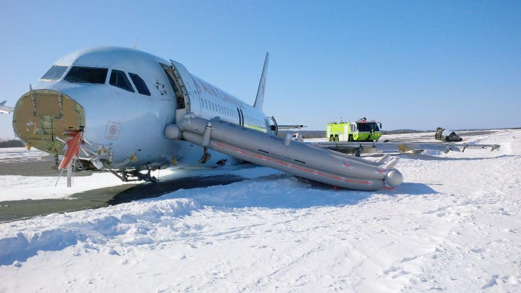 Air Canada plane crash lands at Halifax airport, 23 injured