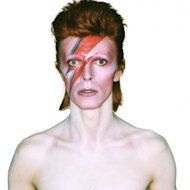 "Album cover shoot for ""Aladdin Sane"""