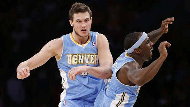 danilo gallinari, ty lawson, denver nuggets