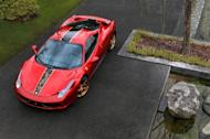 Ferrari's special edition 458 Italia, with a distinctive dragon on the hood